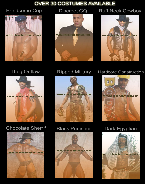 Over 30 Black Stripper Costumes