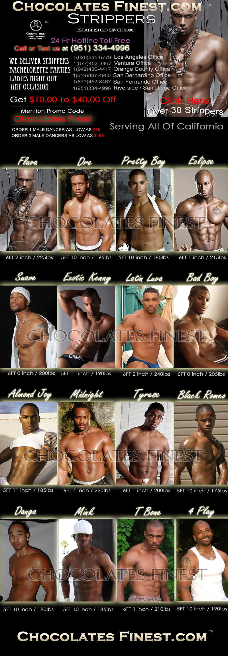 Print Black Male Strippers Los Angeles