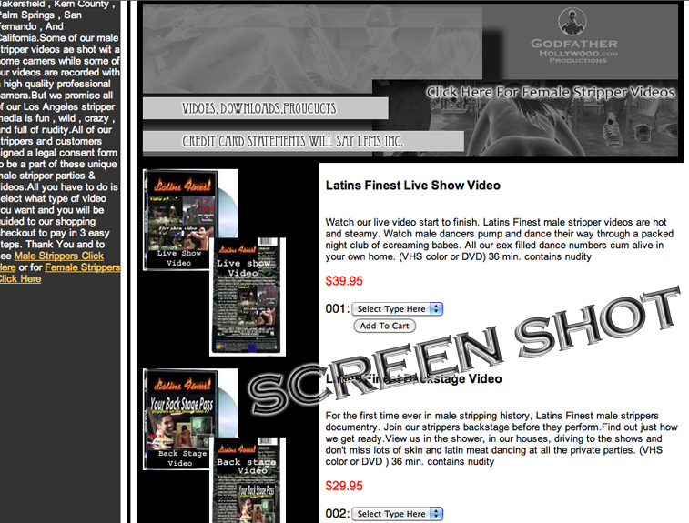 Screen Shot Stripper Videos
